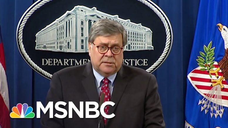 Barr Blames 'Far-Left Extremist Groups' For Violence Amid George Floyd Protests   MSNBC 1