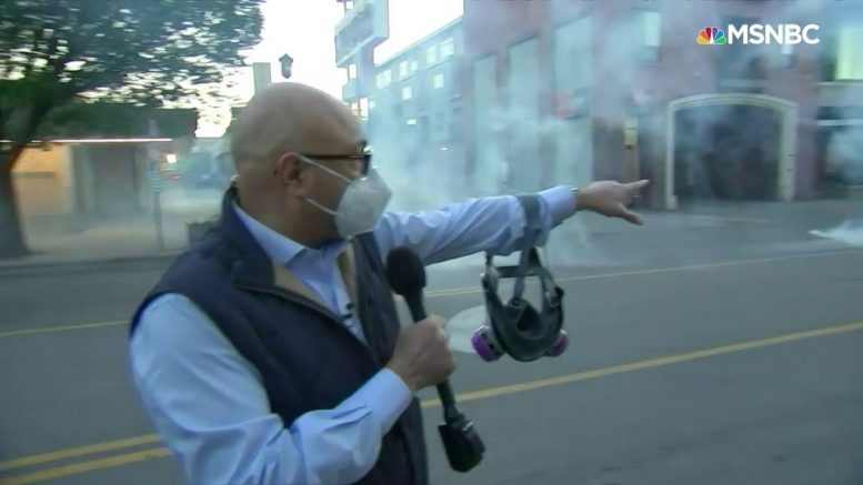 Police Shoot Tear Gas Toward  MSNBC Crew, Protesters, 'There Was No Warning Whatsoever' | MSNBC 1