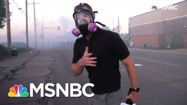 See Flash-Bangs Go Off Near NBC News Reporter As Minneapolis Protesters Retreat | MSNBC 6