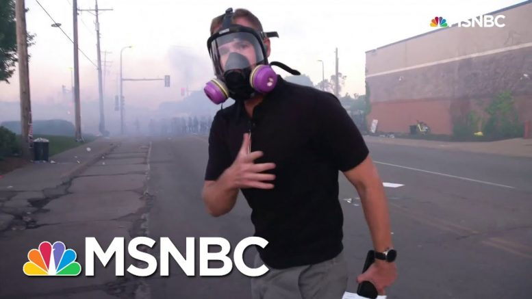 See Flash-Bangs Go Off Near NBC News Reporter As Minneapolis Protesters Retreat   MSNBC 1