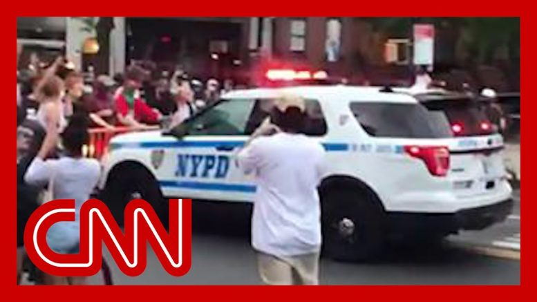 Video appears to show NYPD truck plowing through crowd 1