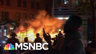 Car Burns In Washington D.C. Amid George Floyd Protesting | MSNBC 1