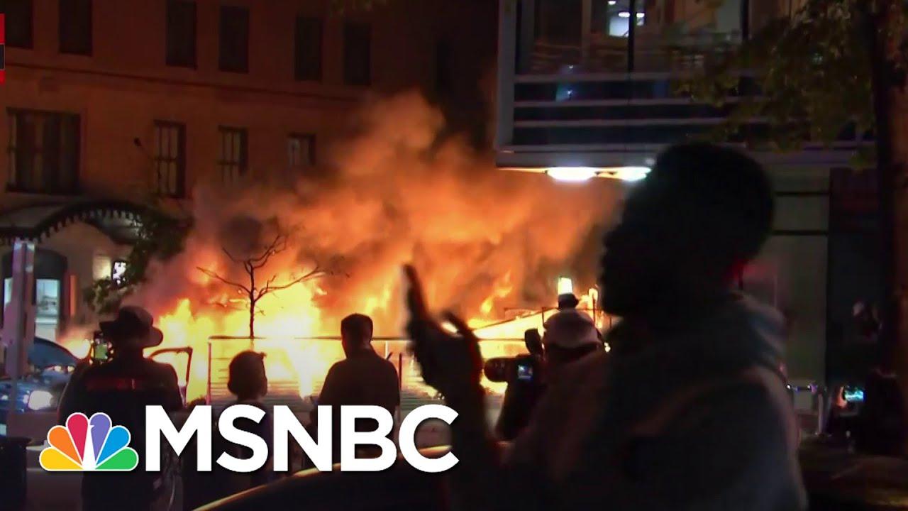 Car Burns In Washington D.C. Amid George Floyd Protesting | MSNBC 7