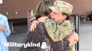 Heartwarming surprise reunion for soldier and family | Militarykind 2