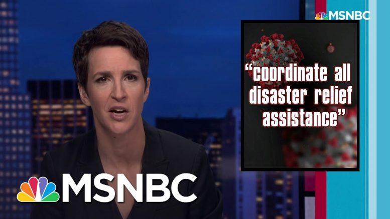Maddow to Trump: You Had One Job. Virus Response Needs Competent Leadership   Rachel Maddow   MSNBC 1