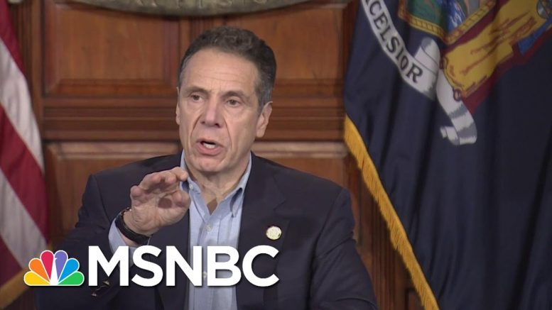 Cuomo Announces Coronavirus Deaths In New York Dropping For The First Time   MSNBC 1