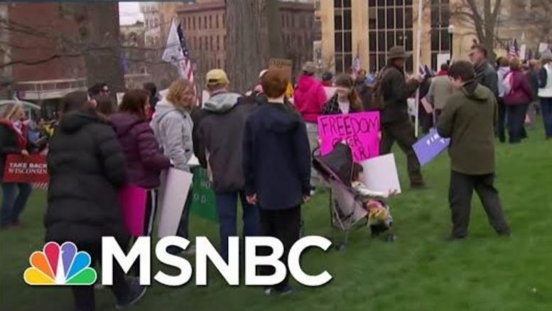 Thousands Flock To Madison To Protest For Reopening Wisconsin | Katy Tur | MSNBC 1