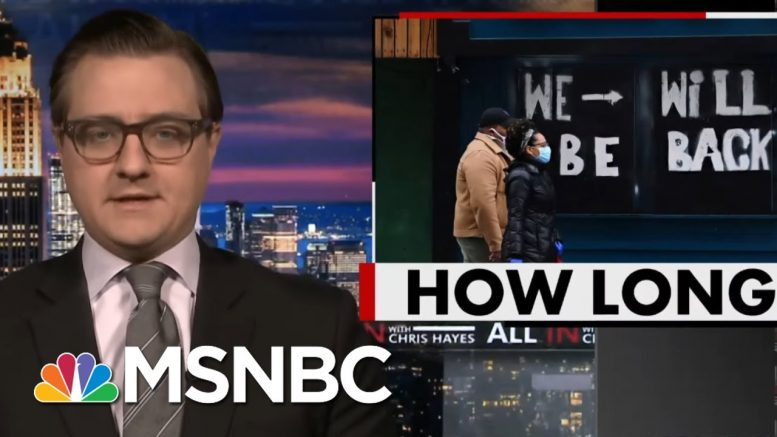 Chris Hayes On Door Number 3 For Reopening Society | All In | MSNBC 1