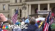 Armed Protesters In Mich. Rally Against Emergency Measures | Morning Joe | MSNBC 3