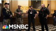 Armed Protestors Try To Storm Michigan Capitol Over Virus Restrictions | MSNBC 4