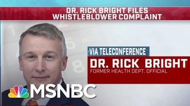 Dr. Bright: I Was Pressured To Let Politics, Cronyism Drive Decisions Over Science | MSNBC 6