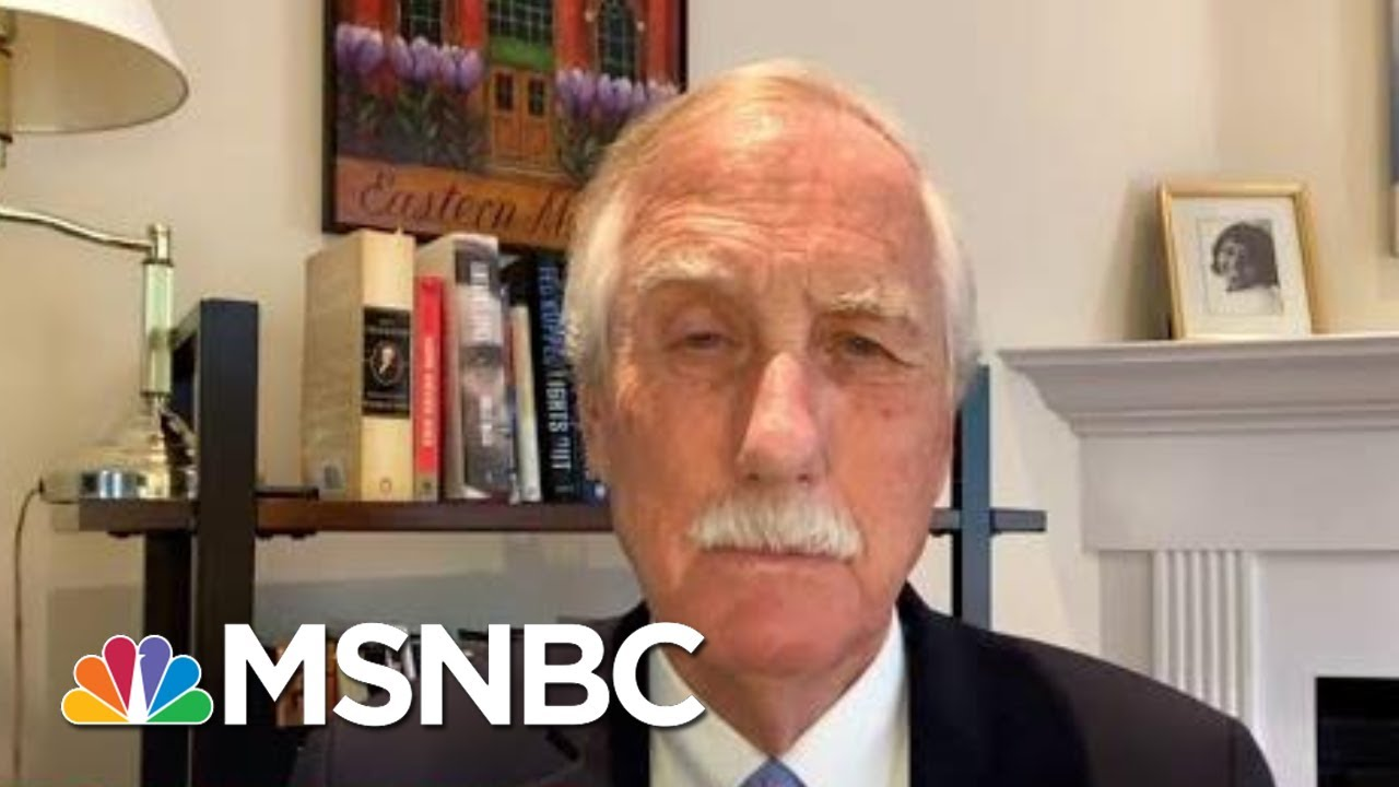 Sen. King On The Handling Of The Virus: 'There Shouldn't Be Ideology Or Politics' | Deadline | MSNBC 1