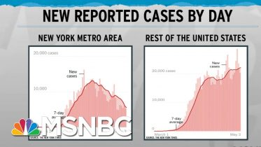 Decreasing New York Curve Disguises National Coronavirus Increase | Rachel Maddow | MSNBC 6