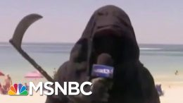 Shaming Works: Mike Pence Shamed Into Wearing Mask As Grim Reaper Hits The Beach | MSNBC 4