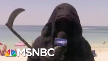 Shaming Works: Mike Pence Shamed Into Wearing Mask As Grim Reaper Hits The Beach | MSNBC 6
