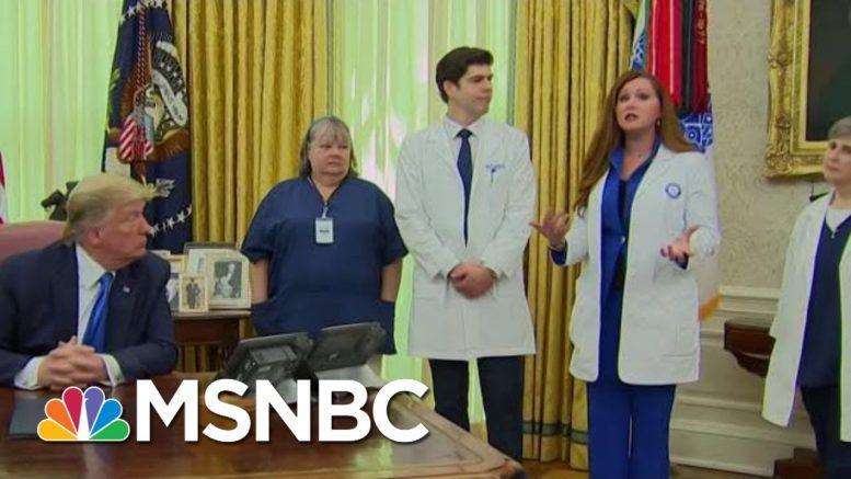Trump Contradicts Nurse Over PPE Availability | Morning Joe | MSNBC 1