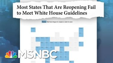 The White House Rejected CDC Guidelines On How To Reopen The Country | MTP Daily | MSNBC 6
