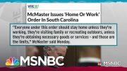 South Carolina Governor Issues Weak 'Home Or Work' COVID-19 Order | Rachel Maddow | MSNBC 2