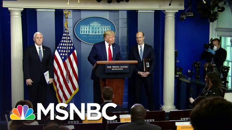 Trump Blames World Health Organization For His Coronavirus Response   The Last Word   MSNBC 1