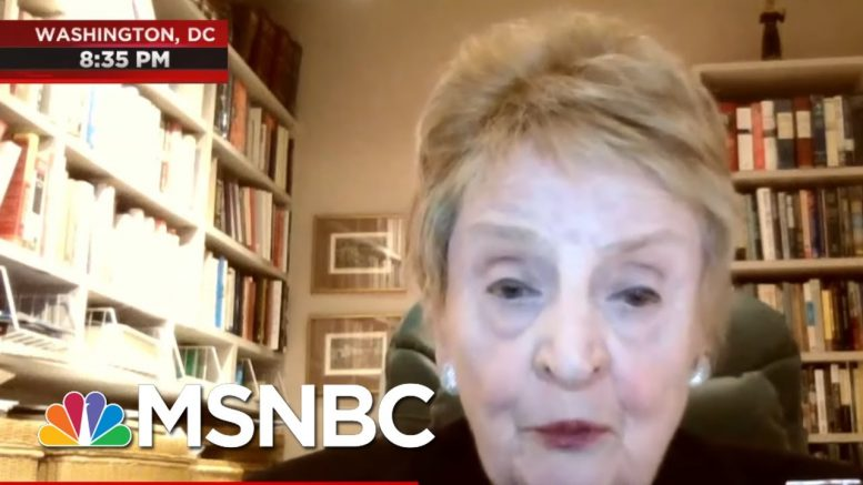 Fmr. Sec. Of State Madeleine Albright On Trump Threatening To Defund WHO   All In   MSNBC 1
