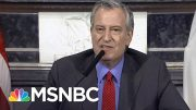 Mayor de Blasio To Trump: 'Are You Telling NYC To Drop Dead?' | MSNBC 3