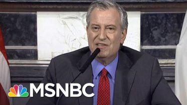 Mayor de Blasio To Trump: 'Are You Telling NYC To Drop Dead?' | MSNBC 6