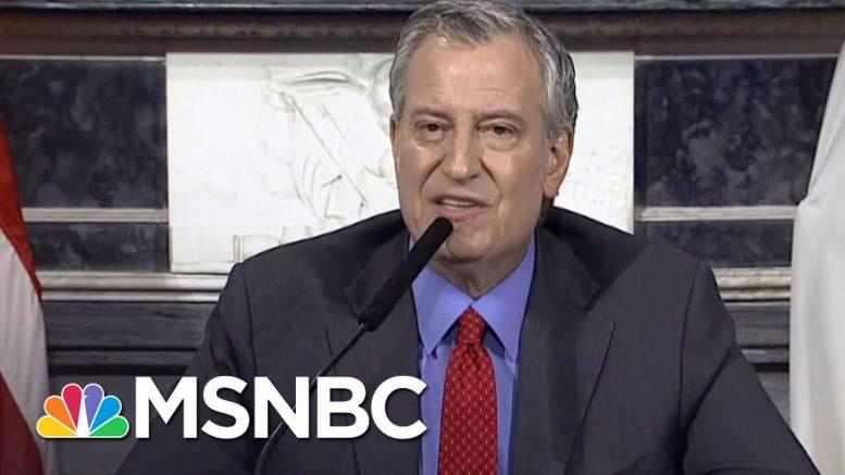 Mayor de Blasio To Trump: 'Are You Telling NYC To Drop Dead?' | MSNBC 1