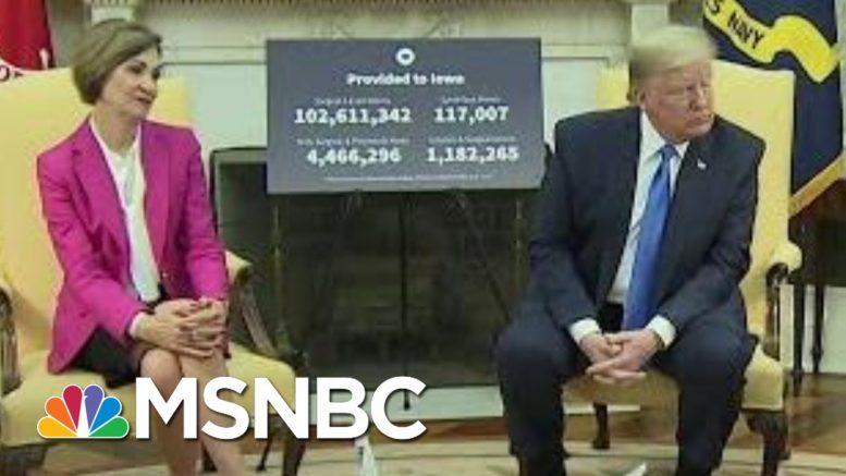 Trump Admin Oddly Eager To Laud Iowa As COVID-19 Crisis Worsens | Rachel Maddow | MSNBC 1