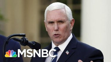 Vice President Pence To Work Remote After COVID-19 Exposure | MSNBC 2
