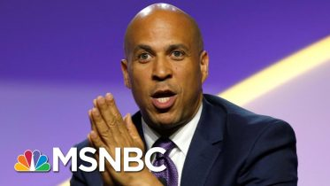 Sen. Booker: We Need Fireside Chat, But Trump Gives Us 'Obnoxious, Damaging' Tweets | All In | MSNBC 10