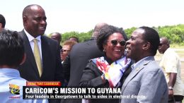 CARICOM LEADERS ON MISSION TO GUYANA 3