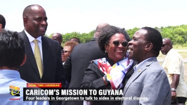 CARICOM LEADERS ON MISSION TO GUYANA 6