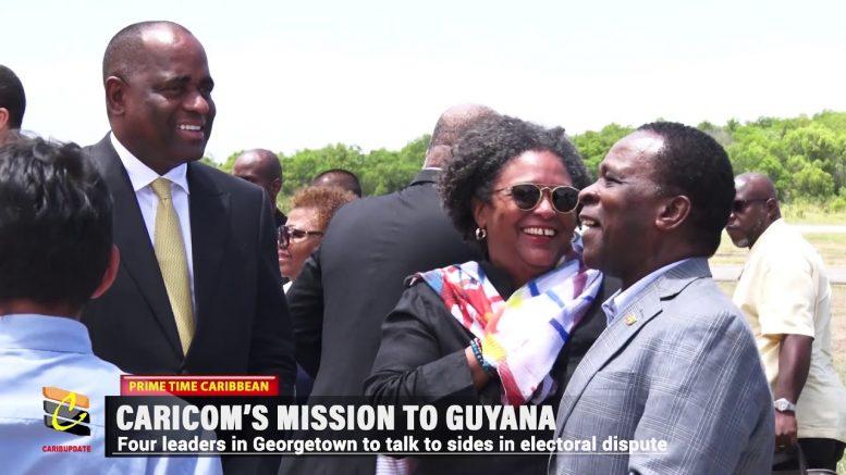 CARICOM LEADERS ON MISSION TO GUYANA 1