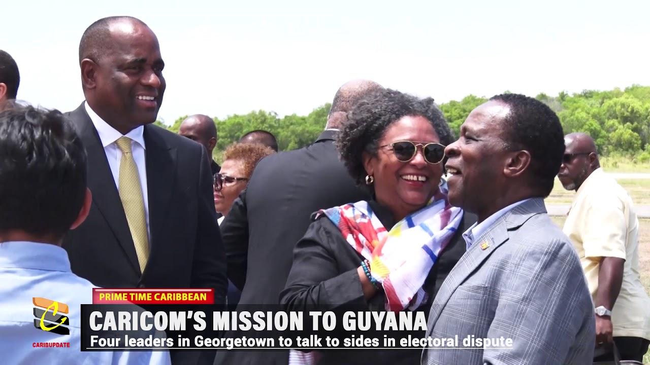 CARICOM LEADERS ON MISSION TO GUYANA 7