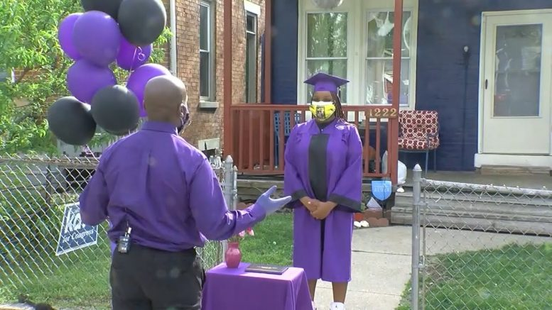 Diplomas hand-delivered to students graduating in lockdown 1