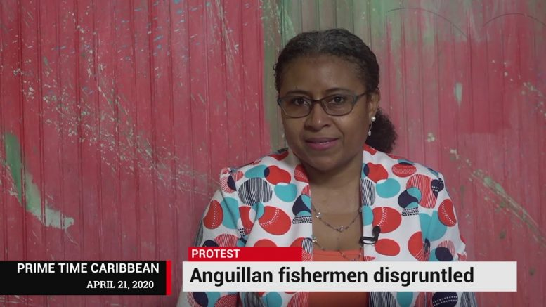 DISGRUNTLED ANGUILLIAN FISHERMEN PROTEST 1