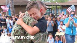 Airman hides in broom closet before school surprise | Militarykind 6