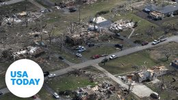 Drone footage of obliterated parts of Nashville | USA TODAY 9