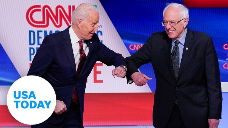 Joe Biden and Bernie Sanders face off in one-on-one Democratic primary debate | USA TODAY 1