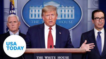 President Trump and Coronavirus Task Force address passage of stimulus bill | USA TODAY 6