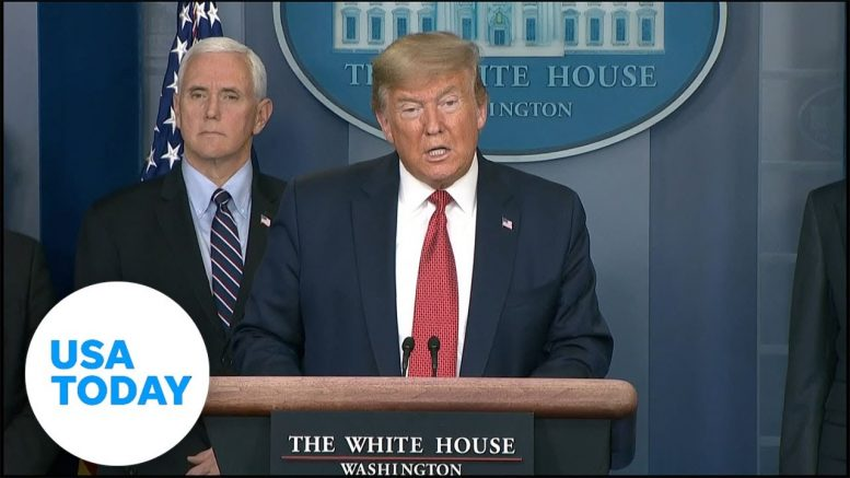 President Trump announces coronavirus disaster relief for several states | USA TODAY 1