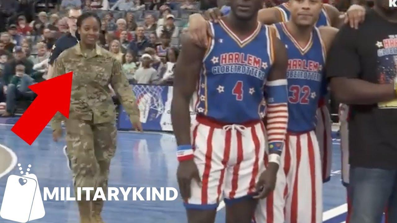 Harlem Globetrotters assist airman in epic photobomb   Militarykind 7