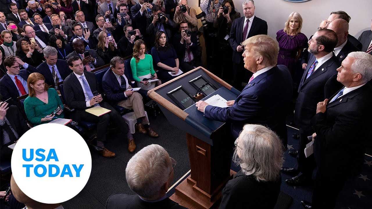 President Trump and the Coronavirus Task Force provide further updates   USA TODAY 3