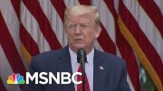 "Trump Abruptly Ends News Conference. ""Don't Ask Me, Ask China."" 