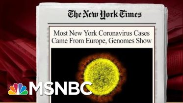 Virus Spread Sooner Than Thought, Mostly Came From Europe: Report | Morning Joe | MSNBC 10