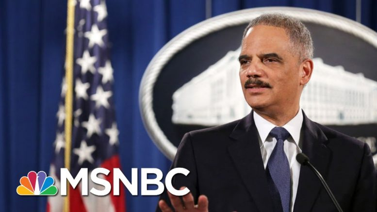 'Absurd': Fmr. AG Holder On Trump's Baseless Accusations Against Obama | All In | MSNBC 1