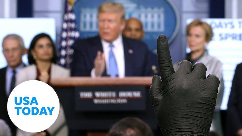 President Trump and Coronavirus Task Force Update on Pandemic   USA TODAY 1