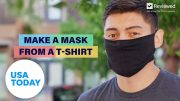 Face mask from a t-shirt tutorial: How to protect from coronavirus | USA TODAY 3