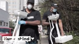 Hand-washing help set up for those who are homeless   Humankind 2