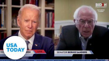 Bernie endorses Biden in remote meetup | USA TODAY 6